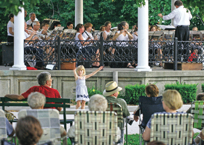 Band at the downtown square